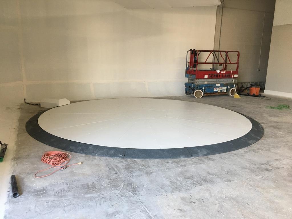 White Powder Coated Turntable